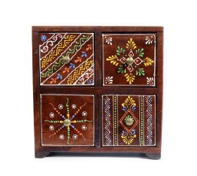 Bol din ceramica - Broscuta Painted wooden cabinet with 4 drawers - GPT18-GE849