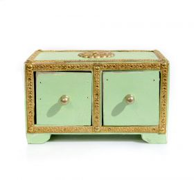 Cutie depozitare sticle de vin, pictata cu motive florale Painted wooden cabinet with 2 drawers - GPT18-GE853-2