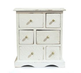 Dulapior pictat, 9 sertare ceramica - GPT18-GE864-4 Painted wooden cabinet with 6 drawers - GPT18-GE862-1
