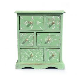 Dulapior pictat, 9 sertare ceramica - GPT18-GE864-4 Painted wooden cabinet with 6 drawers - GPT18-GE862-2