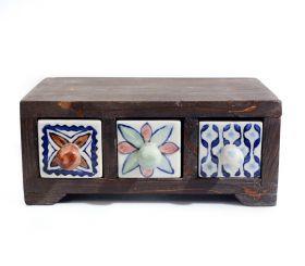 Bol din ceramica - Peste Dulapior pictat, 3 sertare ceramica - GPT15-XI3