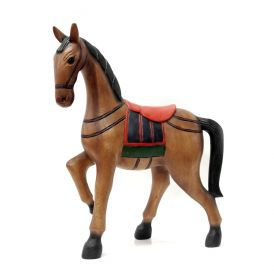 Statueta Elefant, din lemn pictat manual Horse statuette - T11-MM41-1
