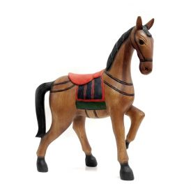 Statueta Elefant, din lemn pictat manual Horse statuette - T11-MM41-2