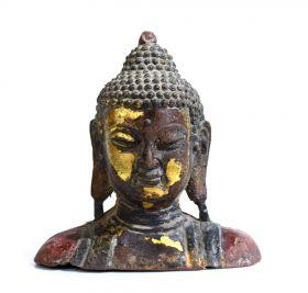 Statueta Elefant, din lemn pictat manual Buddha statuette
