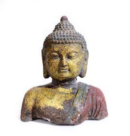 Statueta intelept FUK din piatra sculptata Statueta Buddha, bust