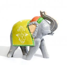 Statueta Elefant, din lemn pictat manual Eelephant statuette