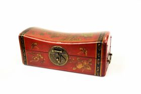 Dulapior din lemn pictat, 1 sertar - GPT18-GE867  Jewelry box  Red