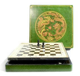 Maner din ceramica  Vintage green Chess