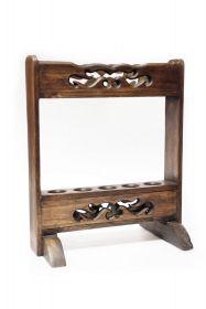 Sah Vintage - rosu  Suport din lemn