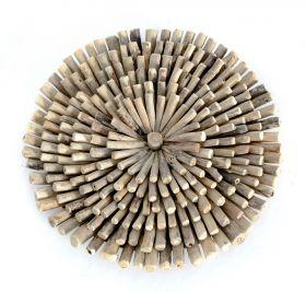 Panou decorativ sculptat Panou din lemn masiv - Soare
