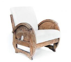 Fotoliu Bagong Blue Natur wood armchair