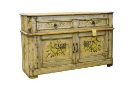 Comoda TV din lemn masiv  Indian solid wood painted cabinet, Antique - AK16-27-c