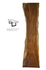 Masa / Birou stil industrial - SEWING Masa dining - Blat din lemn masiv 320 cm
