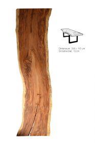 Masa / Birou stil industrial - SEWING Masa dining - Blat din lemn masiv 390 cm