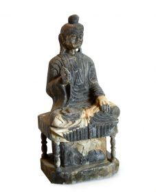 Statueta intelept FUK din piatra sculptata Statueta Buddha din piatra