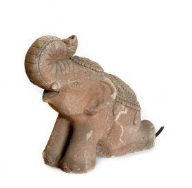 Statuie suport umbrela Elefant  Statueta / fantana din piatra - Elefant