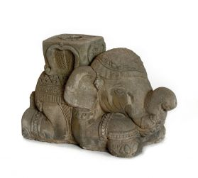 Suport umbrela Lotus Statuie suport umbrela Elefant