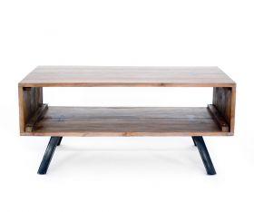 Masuta din lemn si metal  Masuta cafea / Comoda TV, lemn masiv
