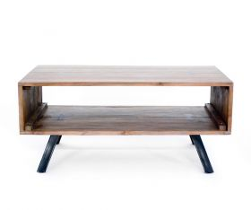 Masuta  TASYA-A din lemn de tec si metal  Masuta cafea / Comoda TV, lemn masiv