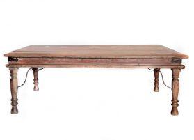 Masuta din lemn si metal  Masa cafea sculptata, lemn masiv