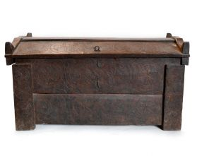 Cufar-taburet stil Industrial - SG-38 Solid wood chest