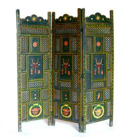 Decoratiuni & Cadouri Paravan Indian pictat manual,  3 module