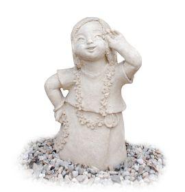 Grilaj metal - Vintage  Statueta pentru gradina - Fetita