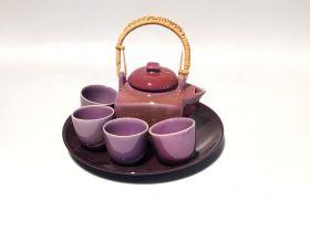 Tava piele vintage  Set ceai -T16-SD15