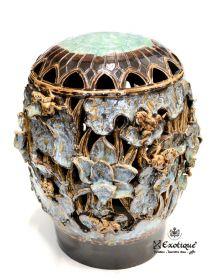 Obiect decorativ din piatra sculptat - Buddha Lampa de gradina din ceramica pictata - T16-LAMPA