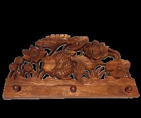 Cuier perete, ceramica pictata Cuier din lemn masiv -T16-CIUC12