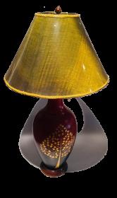 Veioza Thai din teracota - T16-PL28L Lampa electrica DIN ceramica -T16-P08