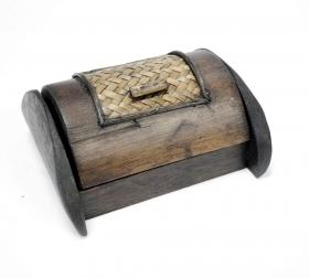 Cos din lemn  Cutie carti vizita - T16-PS28BAT