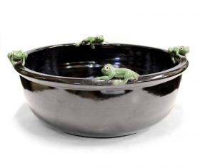 Lavoar din ceramica cu broscute - T16-J154CLAV-1 Handmade ceramic sink - T16-J154CLAV-1
