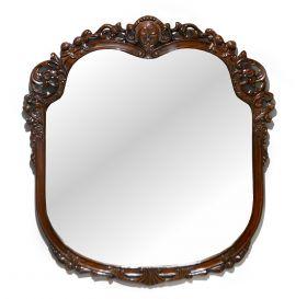 Rama sculptata din lemn masiv, finisaj antichizat Rama din lemn cu oglinda