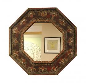 Rame pentru Oglinzi Rama din lemn cu oglinda, finisaj rustic