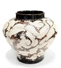 Vaze ceramica, lemn si sticla Vaza pictata din ceramica - T16-P055V-2