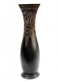 Vaze ceramica, lemn si sticla Thai wood vase - T16-TV2-10