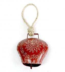 Clopot Vintage Auriu  Painted Red Bell