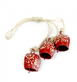 Decoratiuni & Cadouri 3 Red Bells Bead