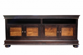 Comoda Tv CHARU din lemn masiv  Sideboard LAVANYA solid wood with leather
