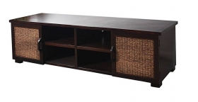 Comoda TV din lemn masiv  TV cabinet with 2 doors