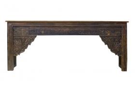 Comoda tv DIVYA din impletitura de zambila de apa  Consola VARUNI  din lemn masiv, Antique