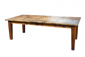 Masa dining din lemn masiv Monobloc 199 cm Masa rustica SURYA din lemn masiv