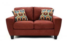 2 seats Sofa SAGEN red
