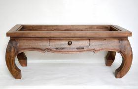 Masuta TIARA-C din lemn de tec si metal  Masuta de cafea din lmn masiv
