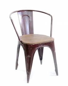 Mobilier Industrial Red metal chair