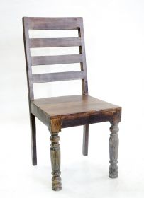 Scaun de bar din lemn masiv ADITI solid wood carved chair