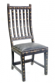 Scaun din piele REGIZOR Scaun AMARJEET din lemn masiv si piele
