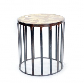 Camera de zi RAAZ Solid wood and iron Stool Grill-Table