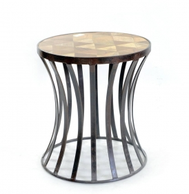 Camera de zi Solid wood and iron CLEPSIDRA Stool -Table